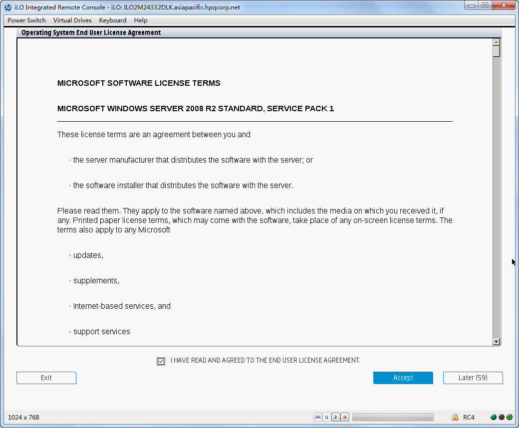 C:\Users\zhaope\Documents\工作\个人实验报告\Gen9 实验\ML350 Gen9\UEFI模式IP引导安装win2008 R2\20141107144326.jpg