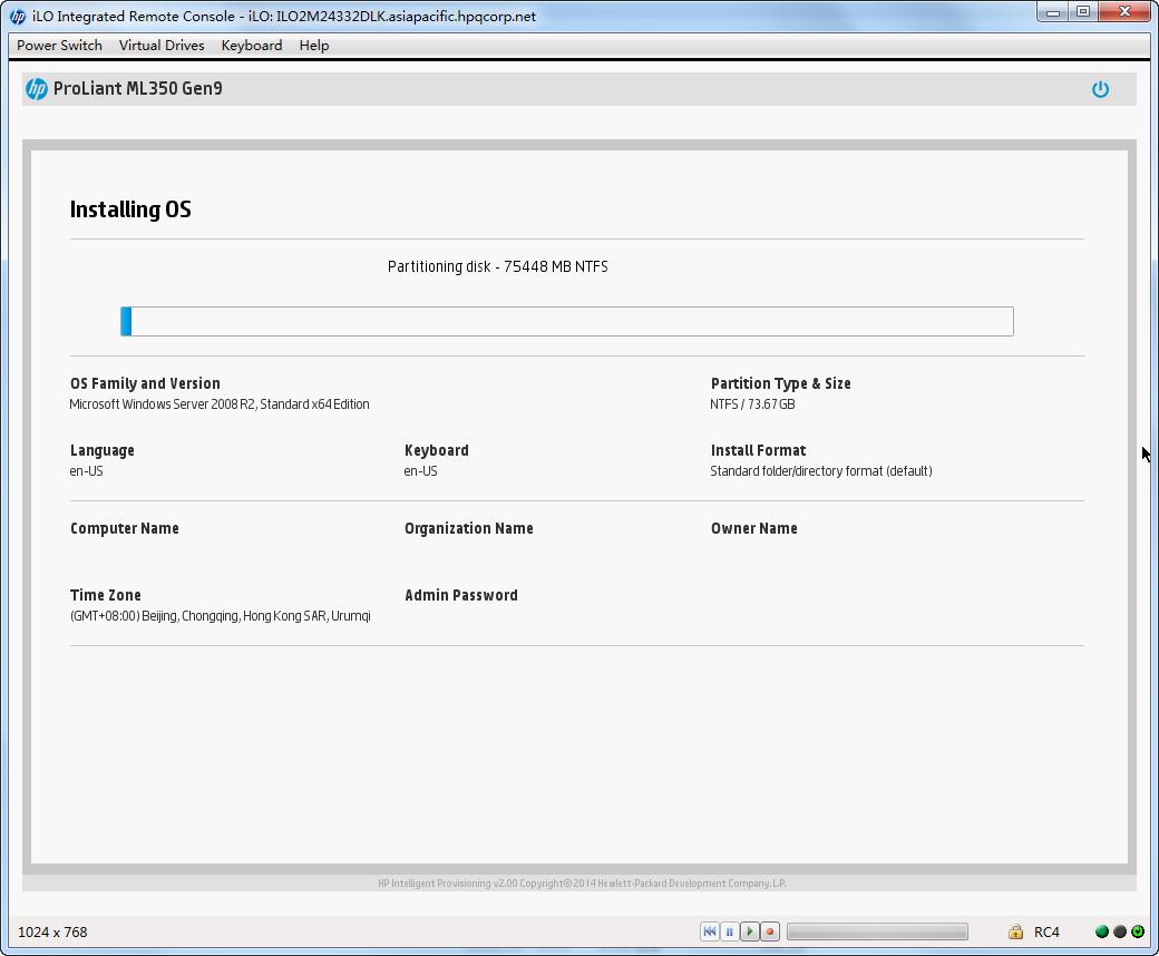 C:\Users\zhaope\Documents\工作\个人实验报告\Gen9 实验\ML350 Gen9\UEFI模式IP引导安装win2008 R2\20141107144340.jpg
